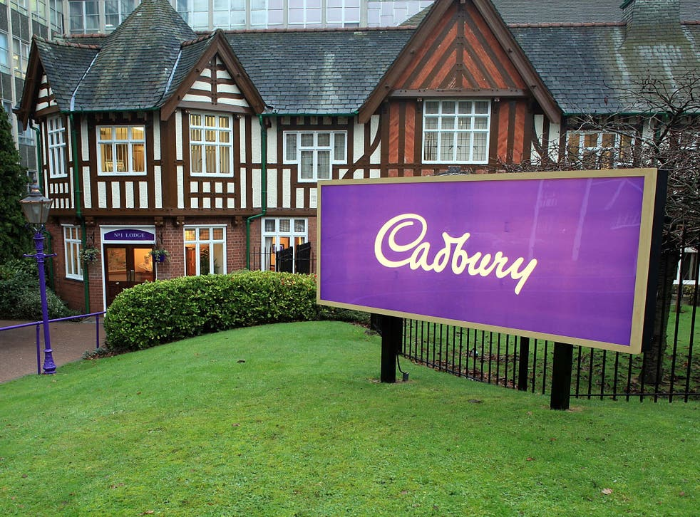 The main entrance at Cadbury's Bournville production plant in Birmingham