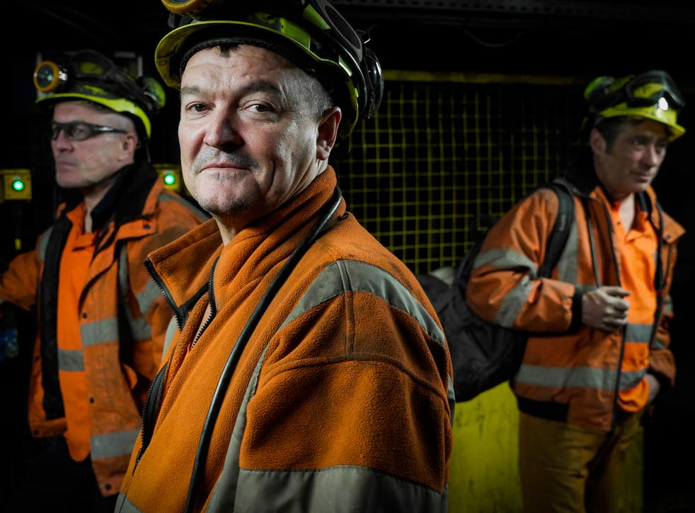 Miners going on shift at Kellingley colliery, which was the biggest deep coal mine in Europe