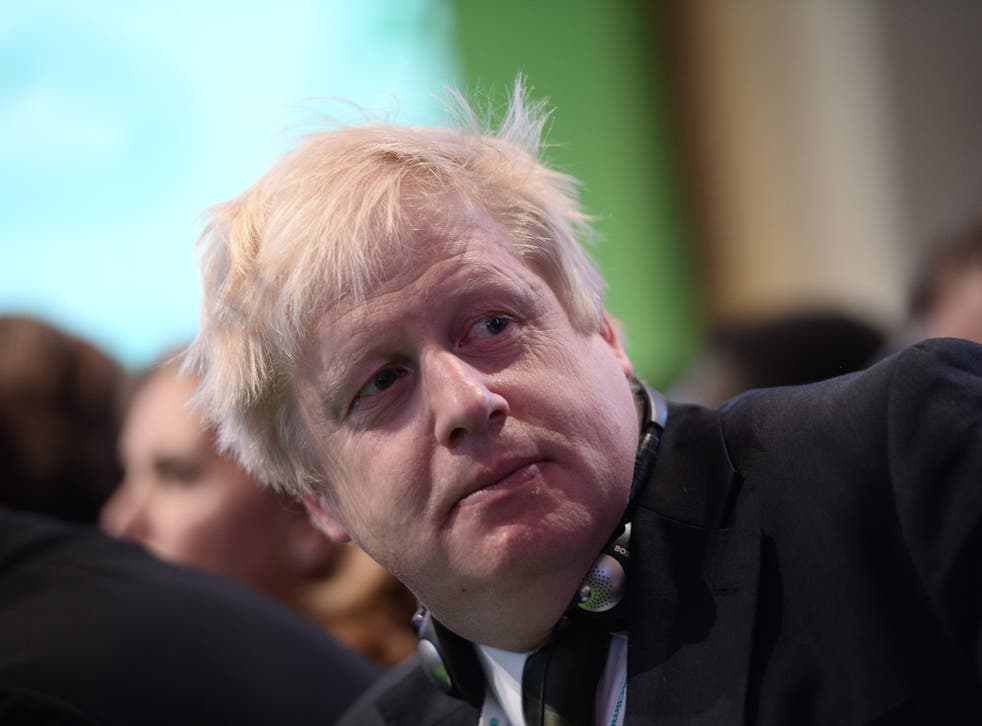 Boris Johnson hit back in his typical style