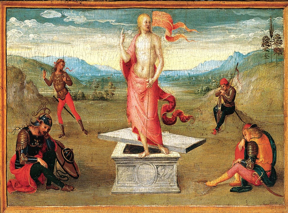 'The Resurrection' by Perugino, one of the paintings subject to the lawsuit
