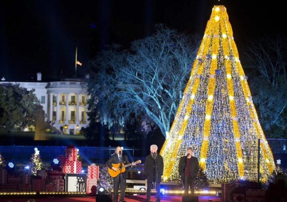 members of crosby stills and nash perform on stage during the national christmas tree lighting