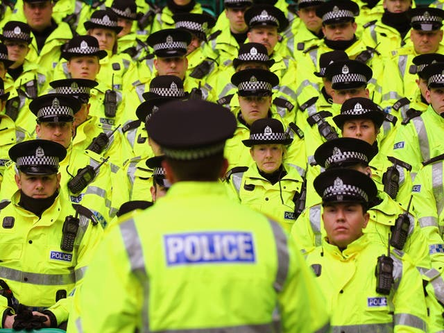 British police officers have a presence in some schools