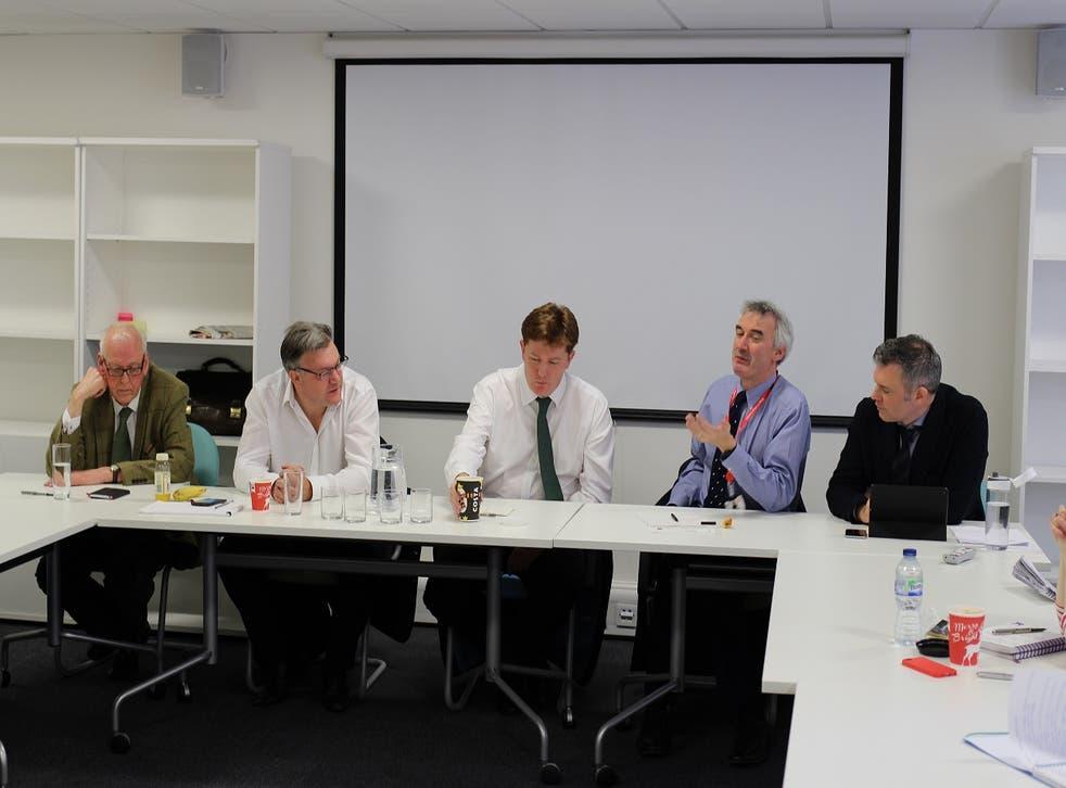 Peter Hennessy, Ed Balls, Danny Alexander, Nick Macpherson and Jon Davis