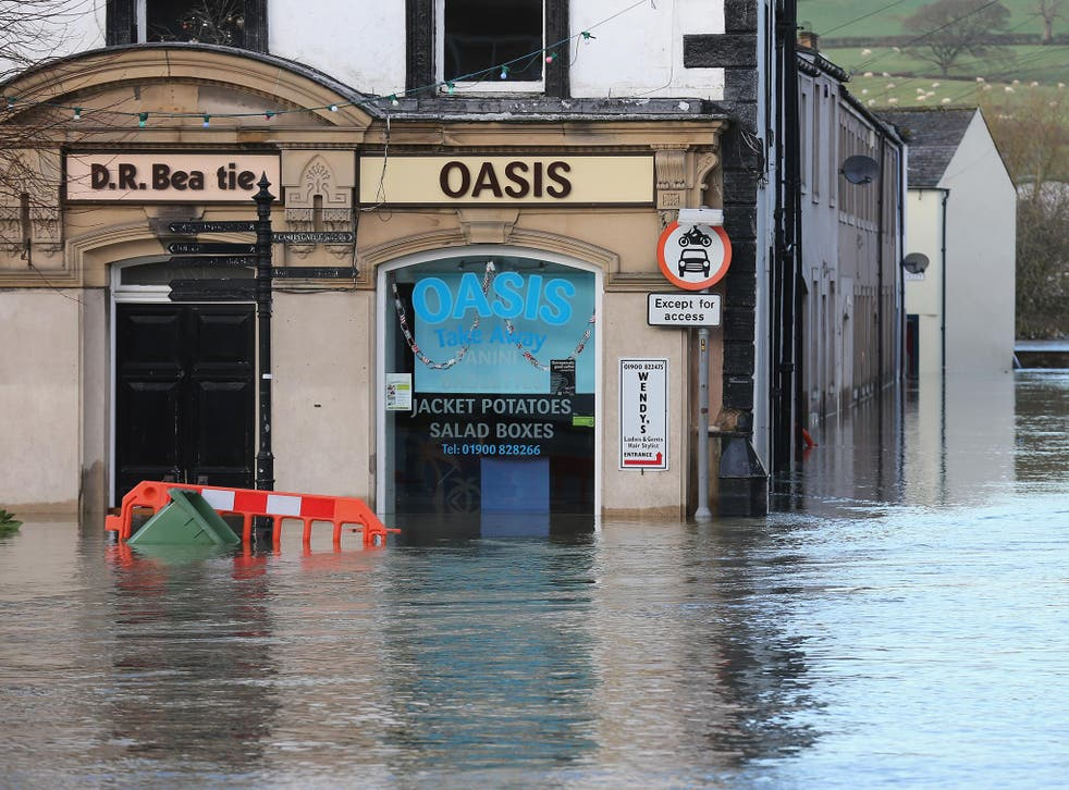 Floods like this one blighting the market town of Cockermouth are becoming more common in Britain