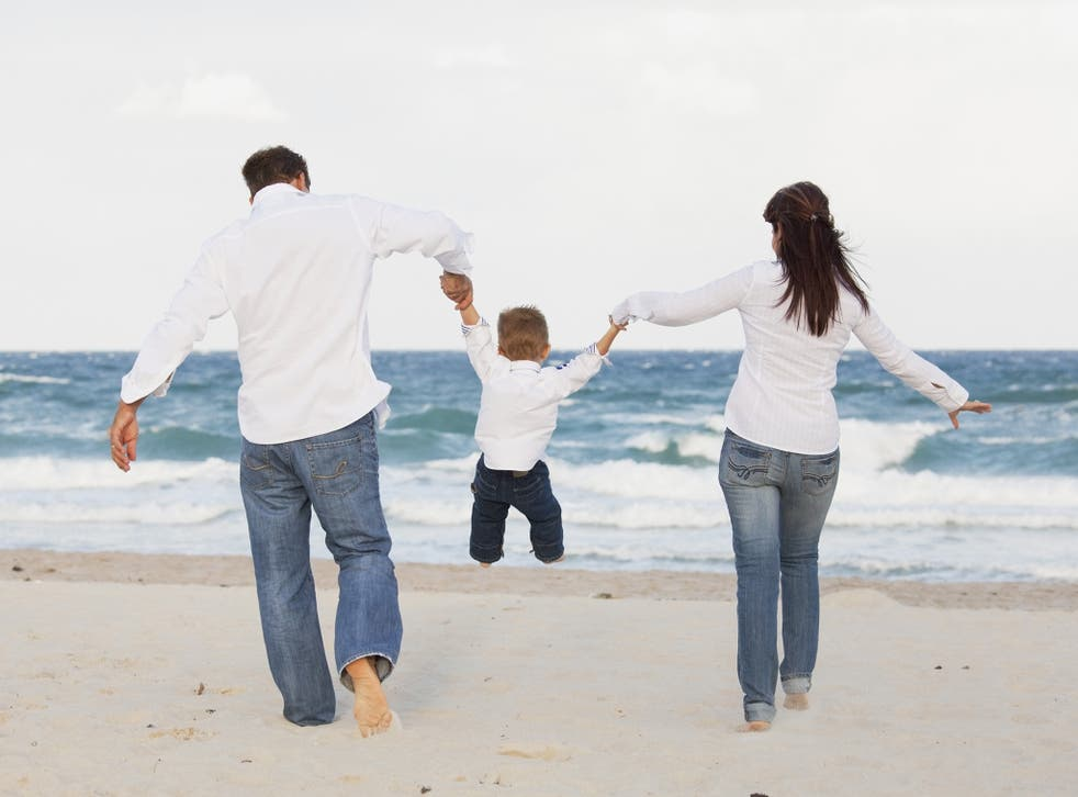 These parents have probably told their child a lie about the ocean