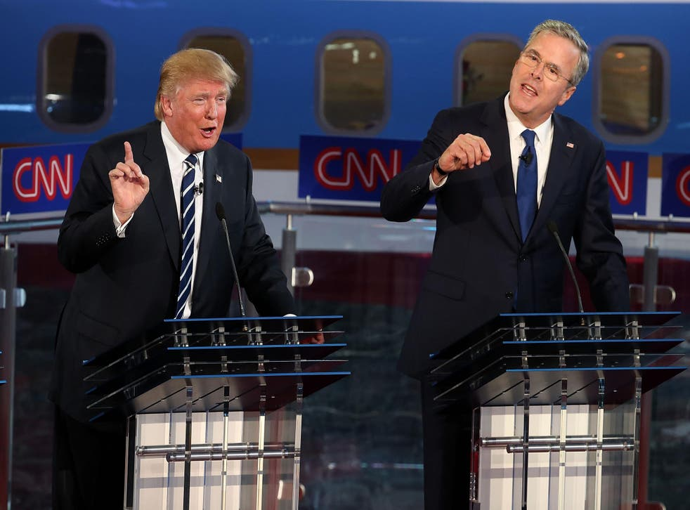 Trump is currently beating Bush in most opinion polls