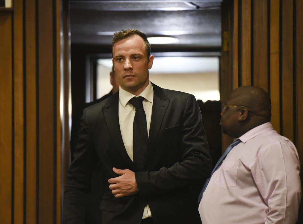 Oscar Pistorius arrives inside the Pretoria High Court on December 8, 2015, in Pretoria, South Africa