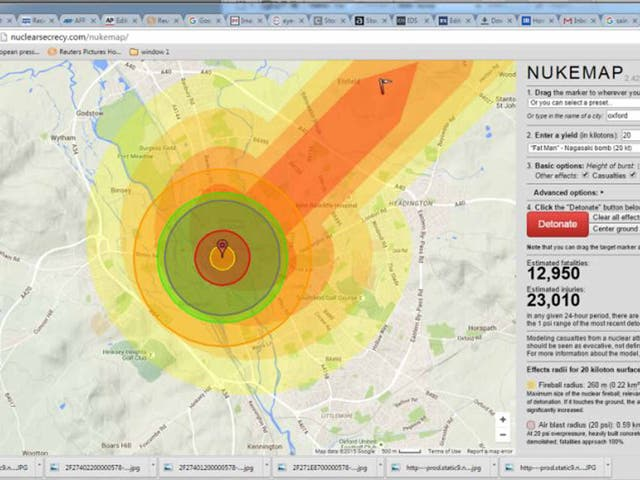 Bomb's up: the NUKEMAP simple format