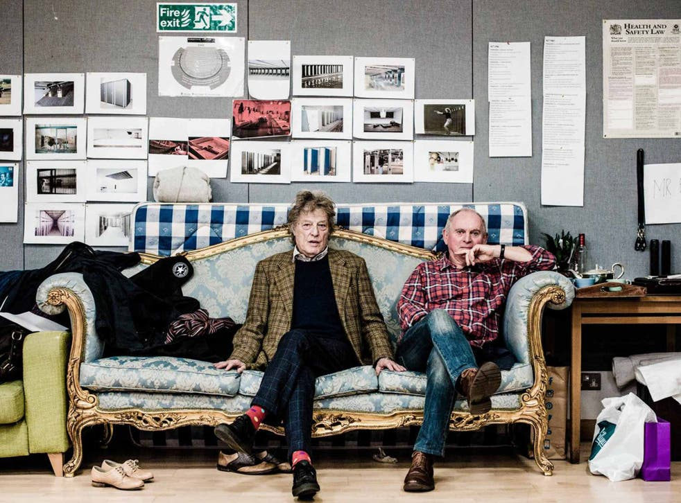 In the hot seat: Tom Stoppard and Howard Davies