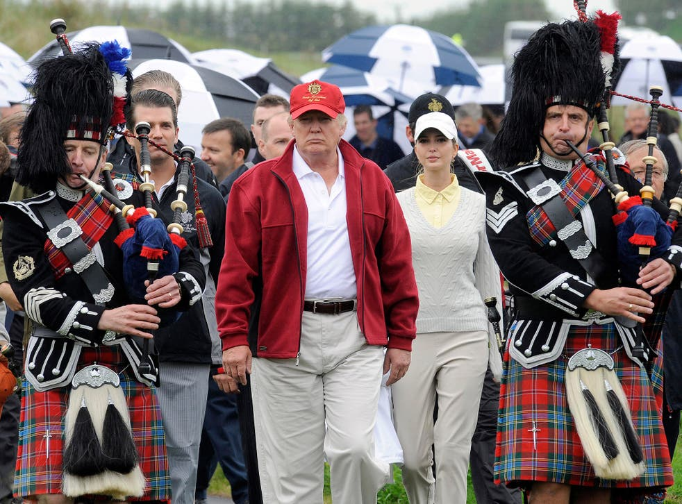 The US presidential hopeful owns several golf courses in the country