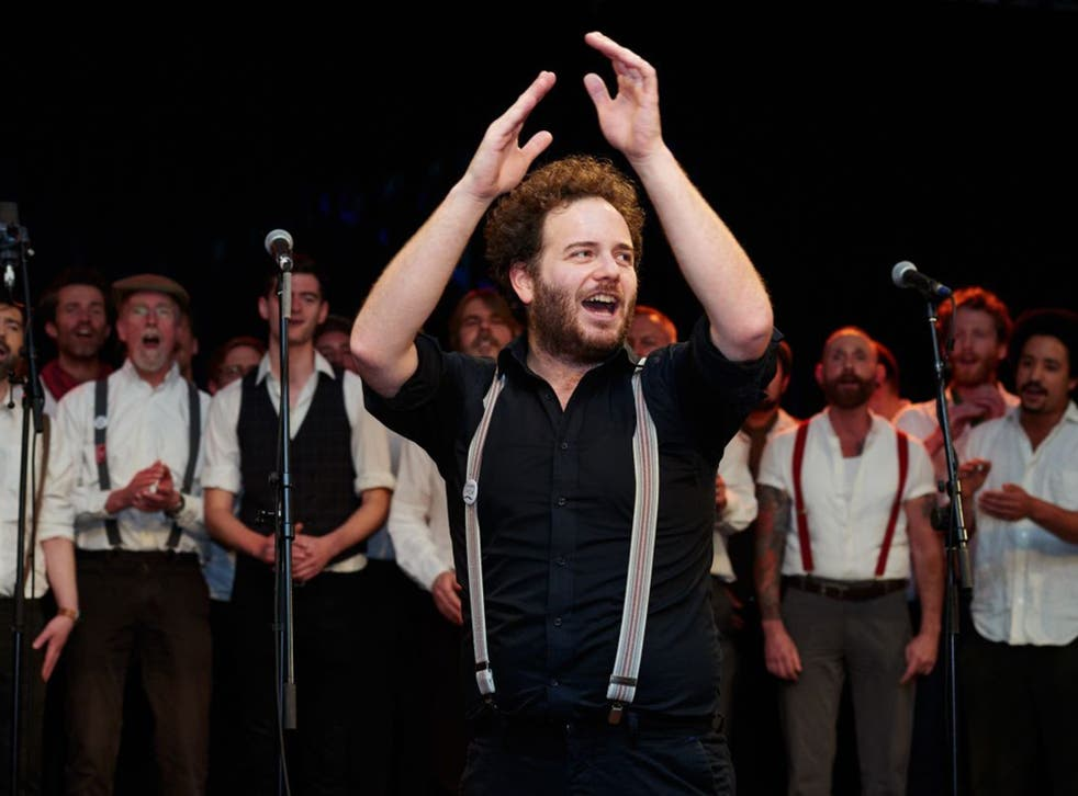 Lift every voice: Dominic Stichbury with the Chaps Choir