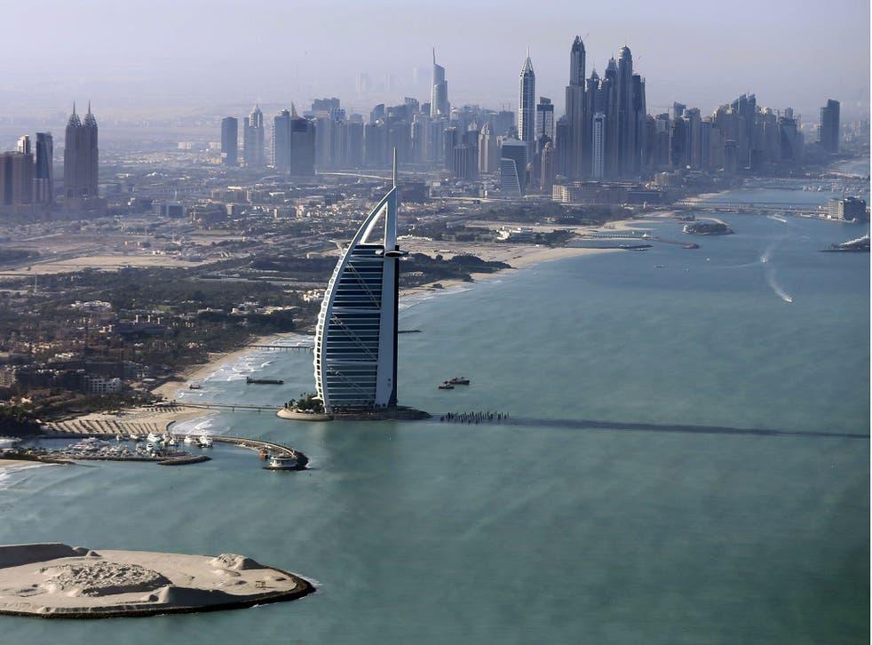 The Burj Al Arab in Dubai, United Arab Emirates