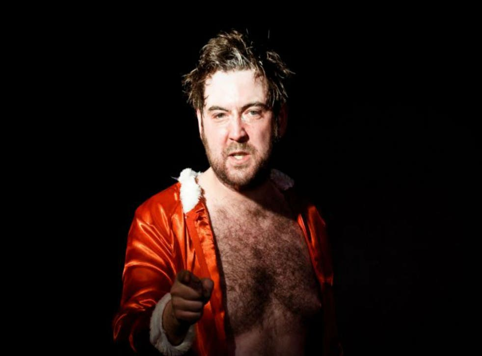Nick Helm performs his now traditional shouty, sweary Christmas gig in London