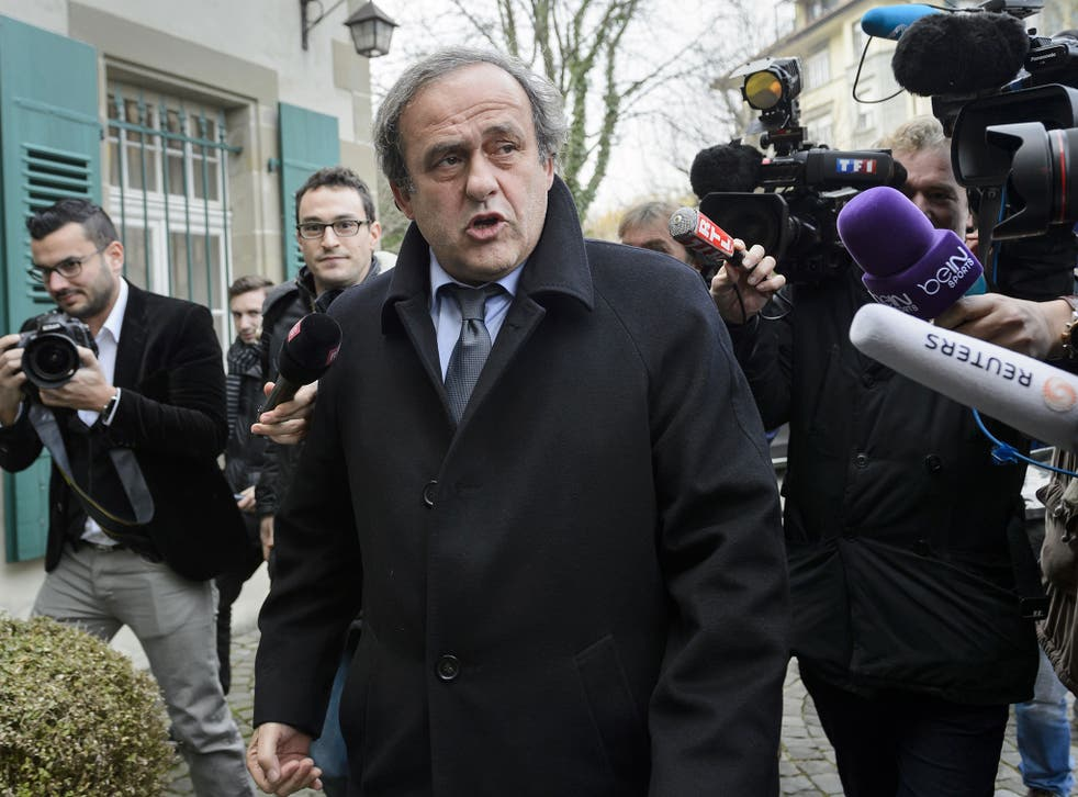 Uefa president Michel Platini has been banned from this weekend's Euro 2016 draw
