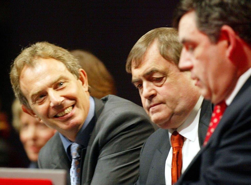 John Prescott (C) was Tony Blair's deputy prime minister
