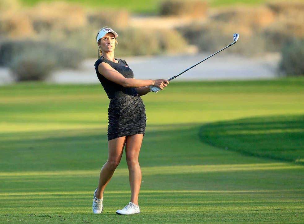 Paige Spiranac during the Dubai Ladies Masters
