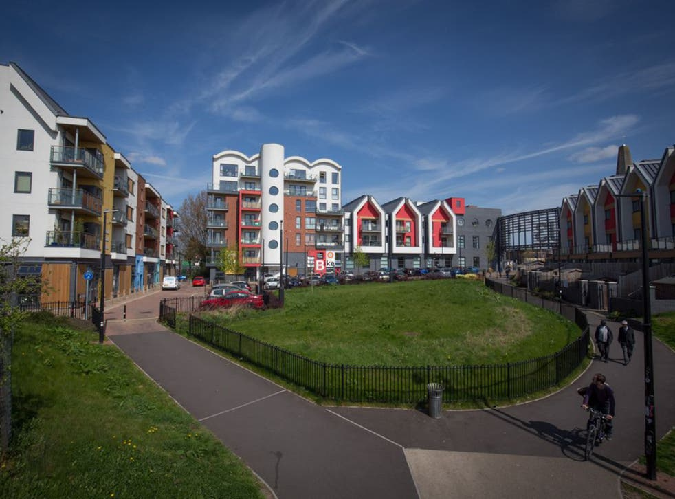 Under the Conservatives' expanded right-to-buy scheme, 1.3 million more families will have the opportunity to purchase their homes at a discount of up to £77,900 outside of London, such as the properties on this mixed use development in Bristol