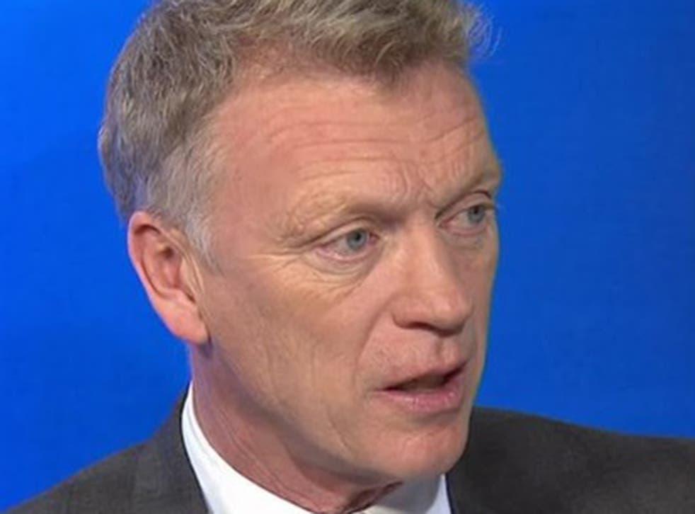 David Moyes in the Sky Sports Studio