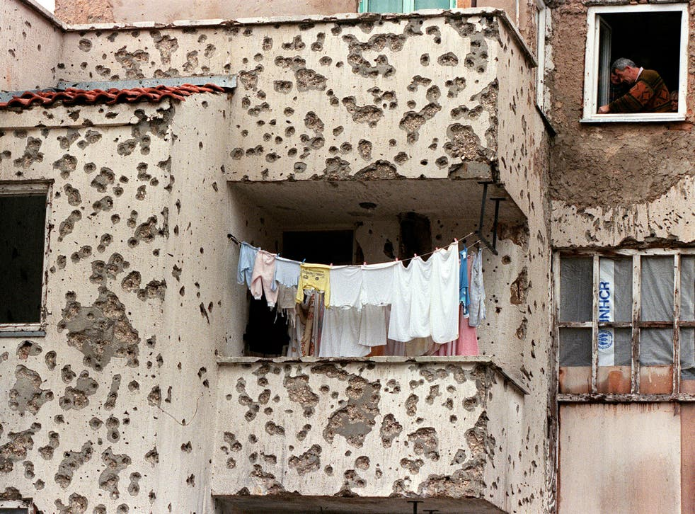 Twenty years after the end of the Balkan War, the scars of the conflict still riddle the city