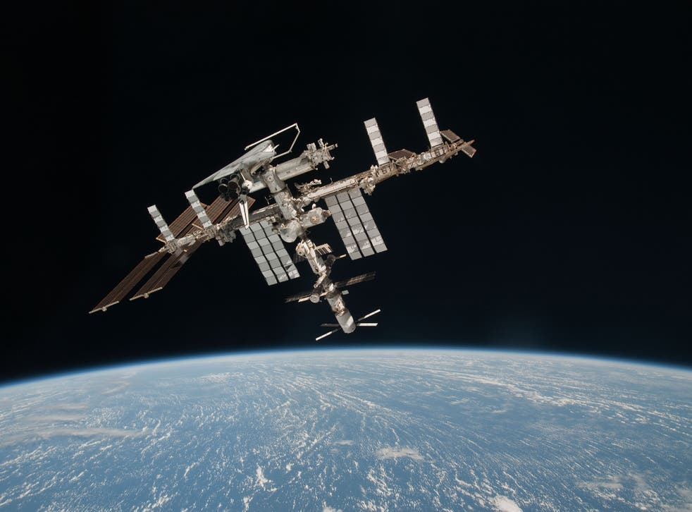 The International Space Station in orbit above Earth, the destination for Britain's first astronaut