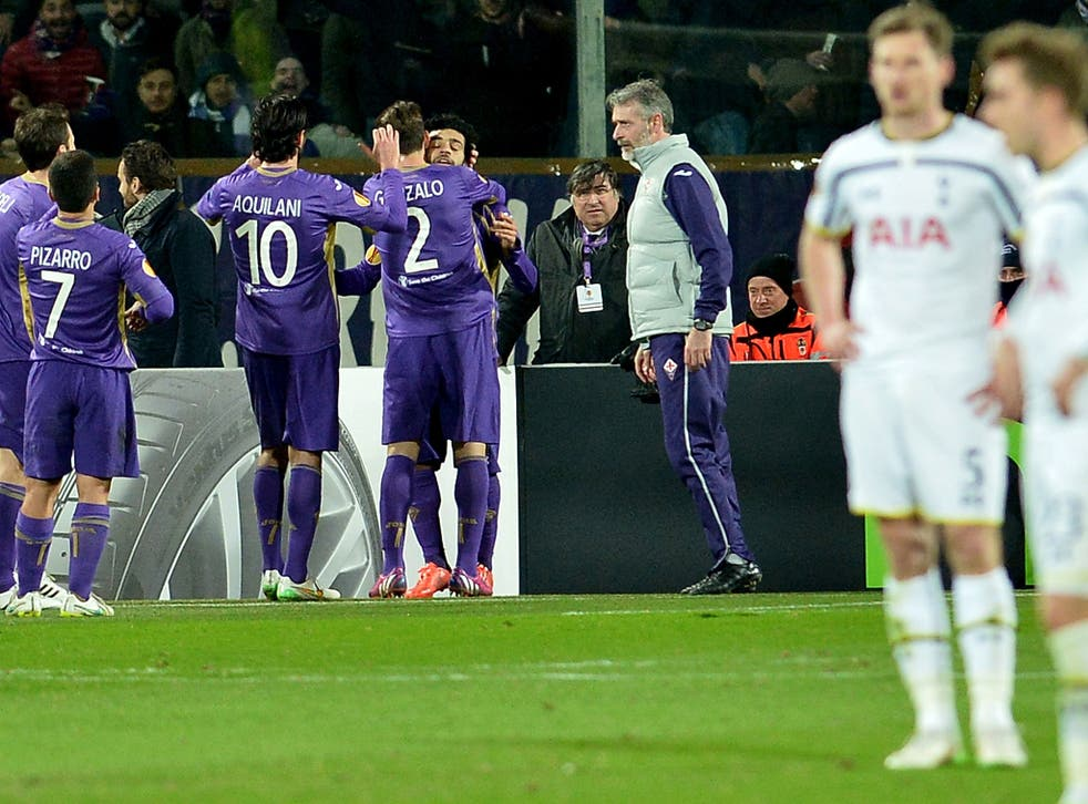 Fiorentina knocked Tottenham out of the Europa League in 2015