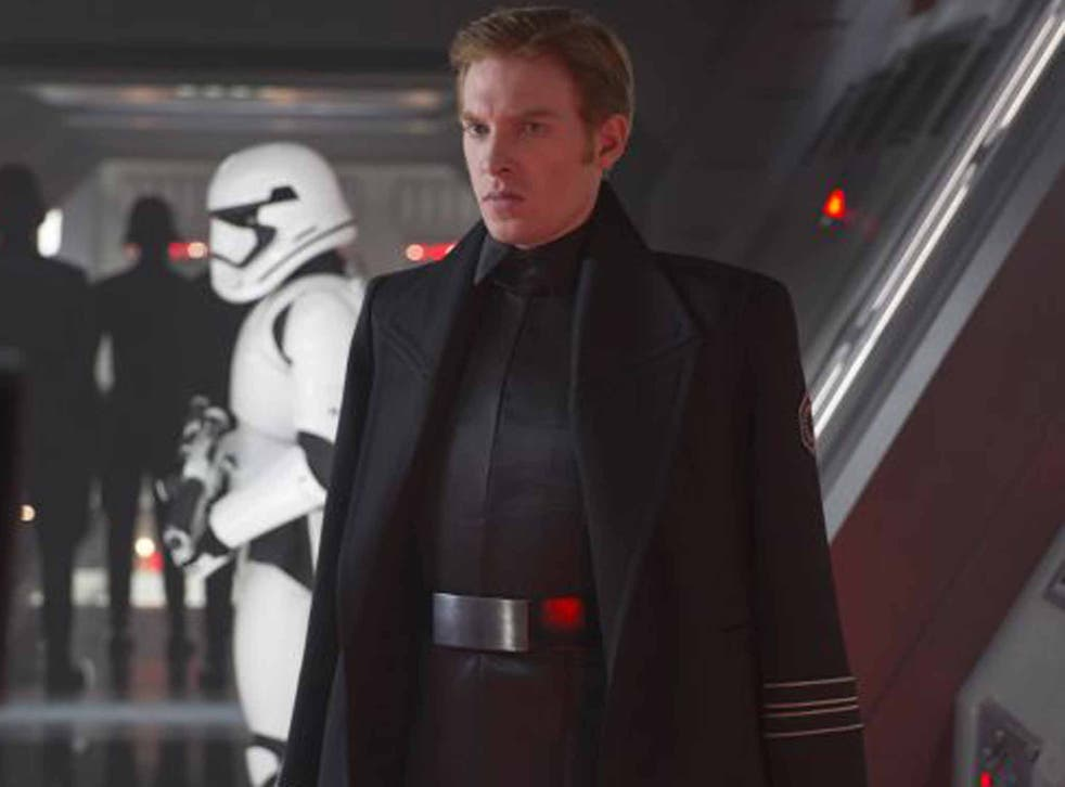 Dark side: Domhnall Gleeson as General Hux in 'Star Wars: The Force Awakens'