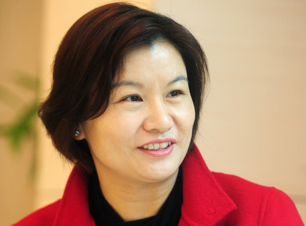 Zhou Qunfei,  a former factory worker who founded Lens Technology, a company supplying Apple, Samsung and other technological giants with touchscreen glass has become China's richest woma in April 2015 , with a fortune surpassing $8 billion
