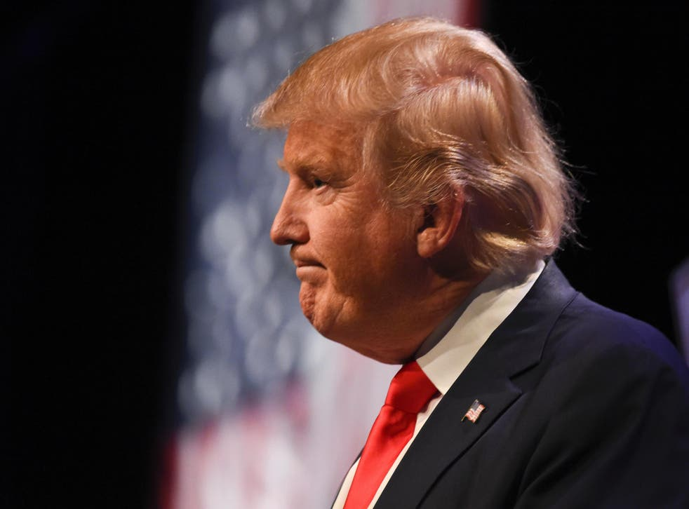 Trump is leading the Republican presidential race Getty Images