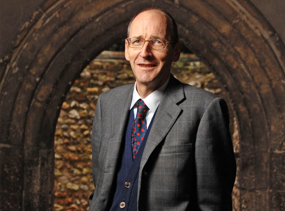Andrew Tyrie at the entrance to Chichester Cathedral in his picturesque constituency