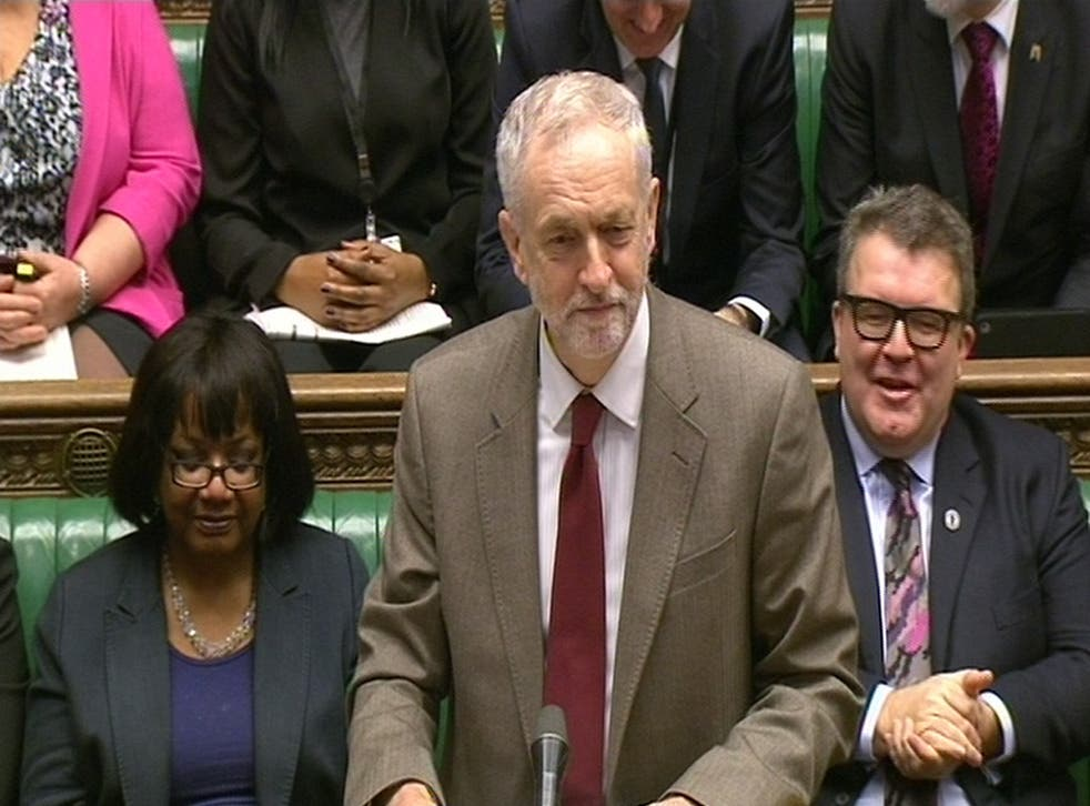 """Jeremy Corbyn wishes David Cameron a """"Happy Christmas"""" at Prime Minister's Questions."""