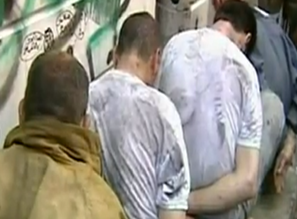 Syrian detainees are held