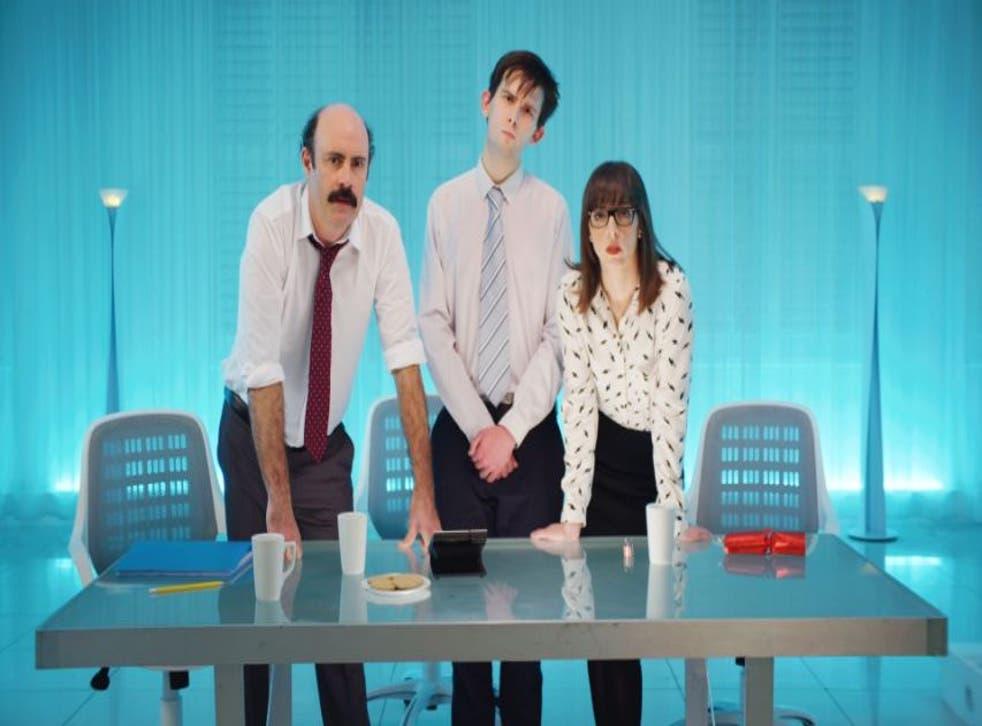 Sam Simmons, Kieran Hodgson and Bridget Christie star in Sam Simmons' Xmas on Sky Arts