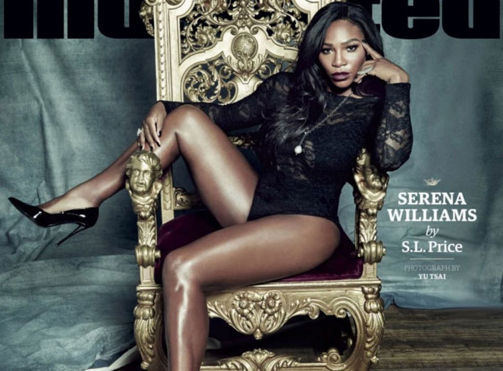 Serena Williams on the cover of Sports Illustrated