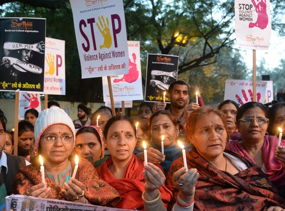 Women in India campaign for an end to violence against women (file pic)