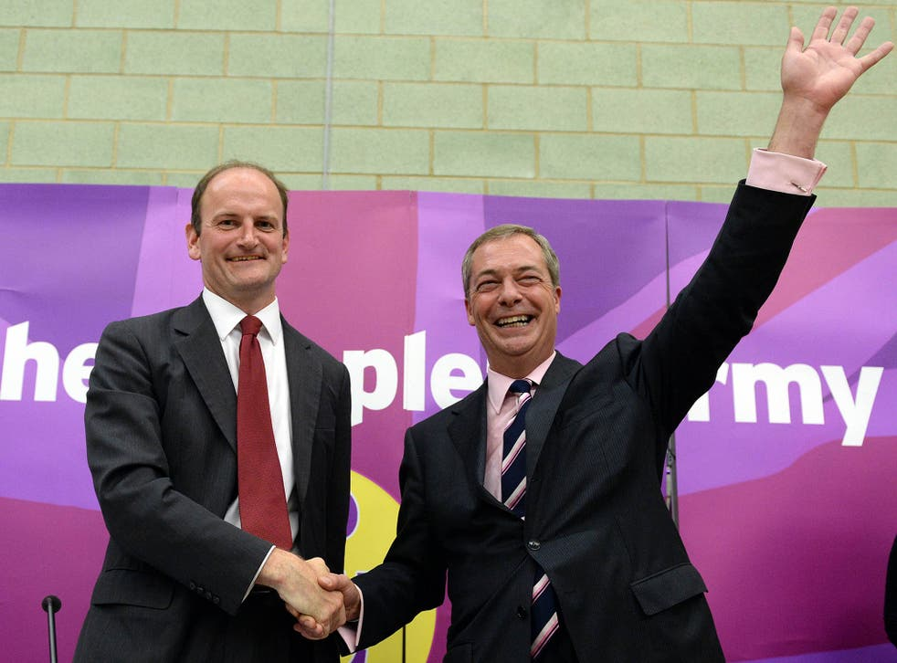 """Mr Carswell had told the BBC that UKIP needed """"to change gear and change its management if it's to go to the next level"""""""