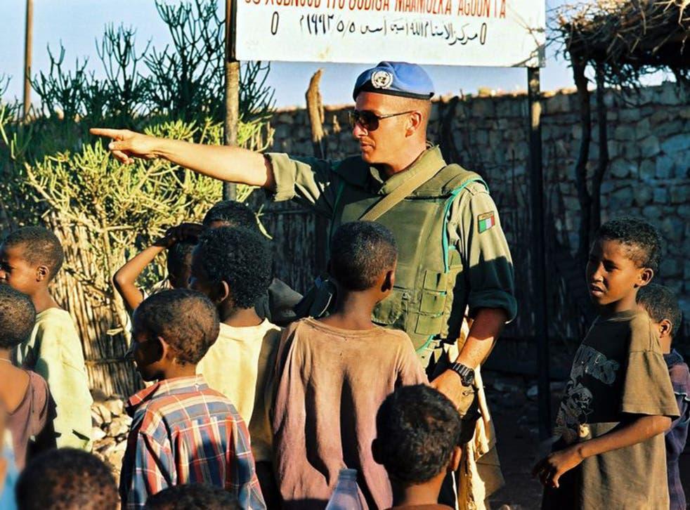 Paul Hopkins working as an Irish Army Ranger in Somalia in 1993