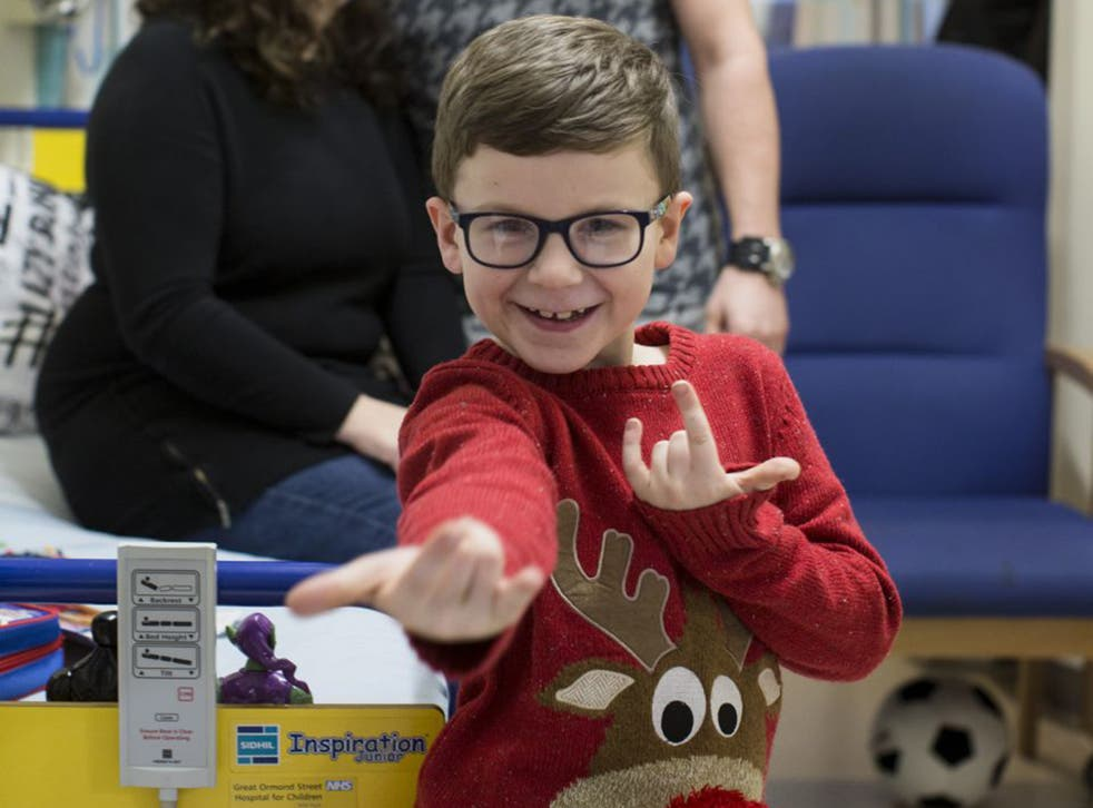 Taylor Banks, 7, has been an inpatient at GOSH since October