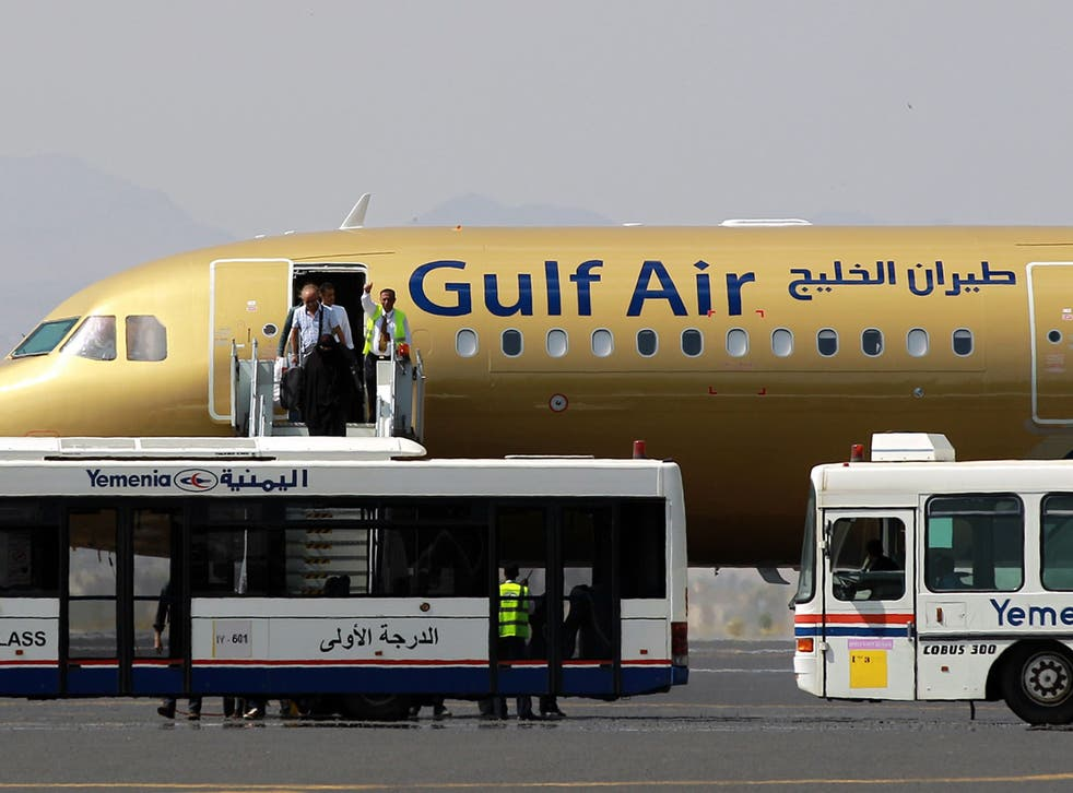 The Gulf Air flight landed safely at Heathrow (file photo)