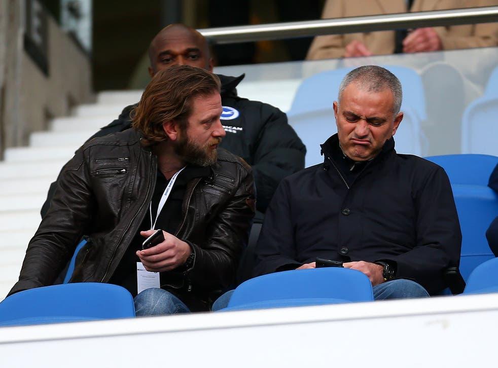 Jose Mourinho watches Brighton vs Middlesbrough