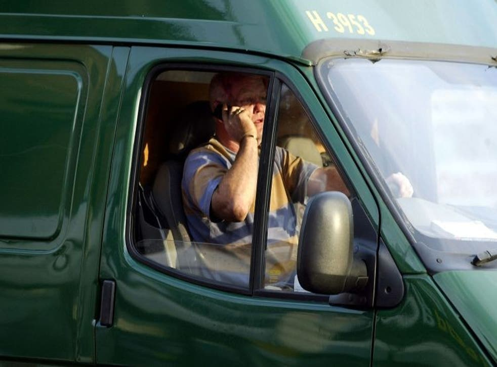Lorry drivers on phones will be hit harder by penalties and points