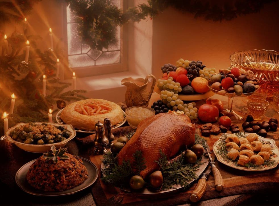 Christmas goose dinner