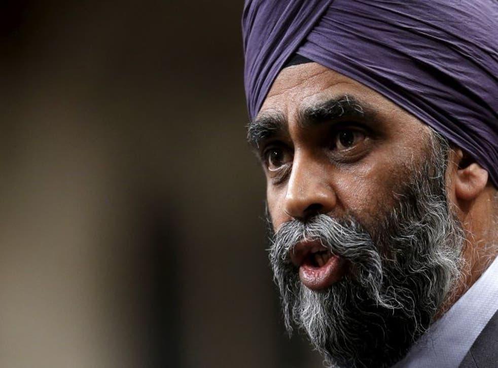 Canada's Defence Minister Harjit Sajjan