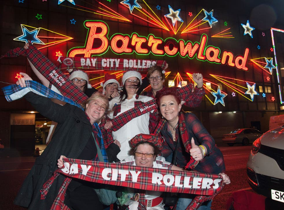 Bay City Rollers fans before their gig in Glasgow