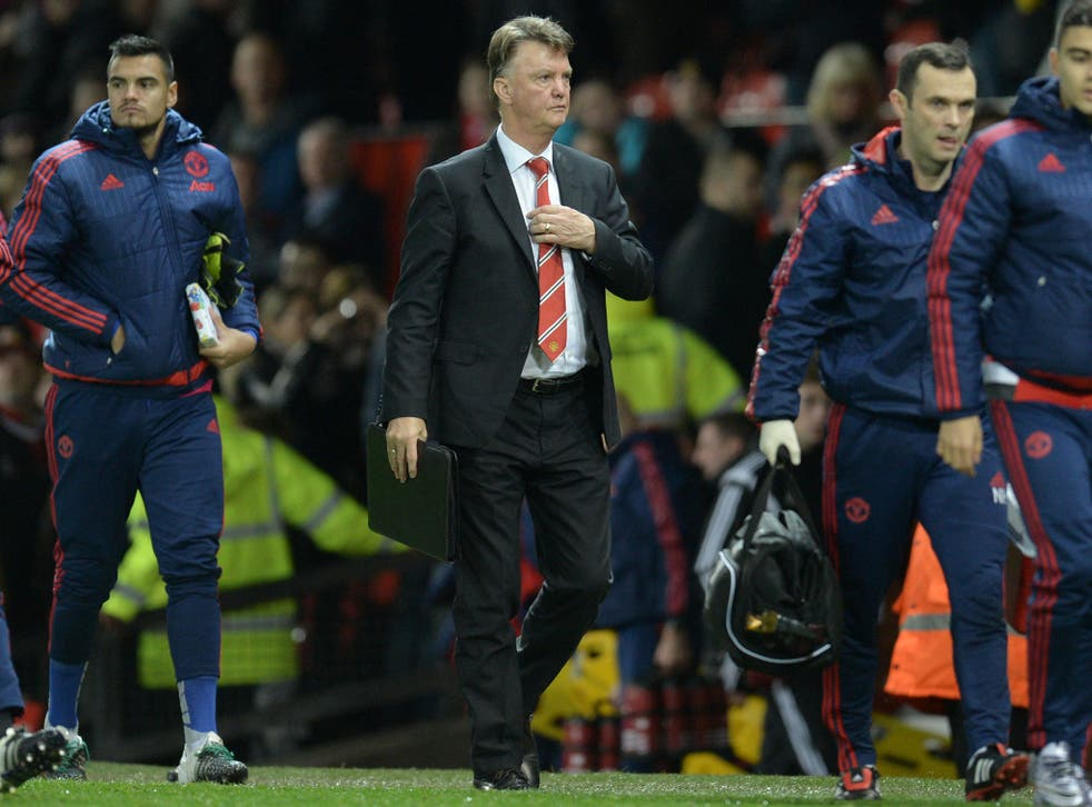 Manchester United manager Louis van Gaal has two games to save his job
