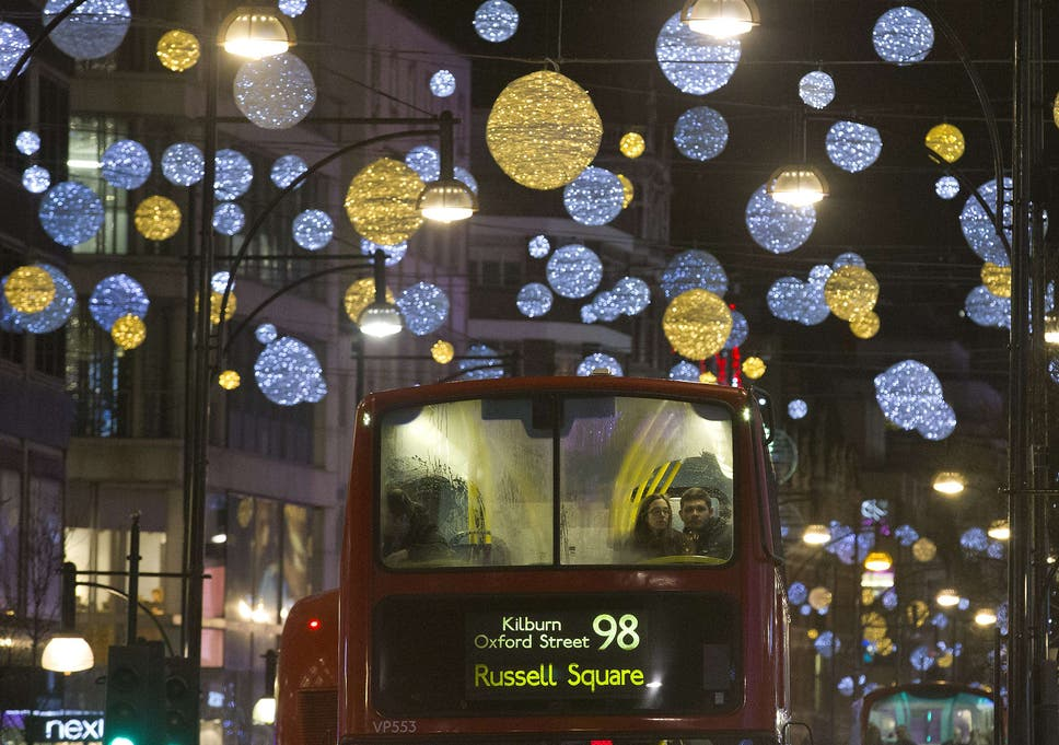 the oxford street christmas lights of 2016 as switched on by pop star craig david