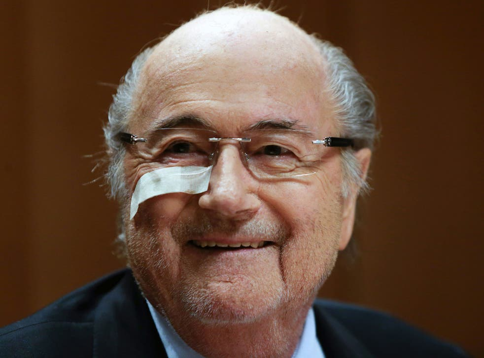 Sepp Blatter held a press conference for nearly an hour to address his eight-year ban from football