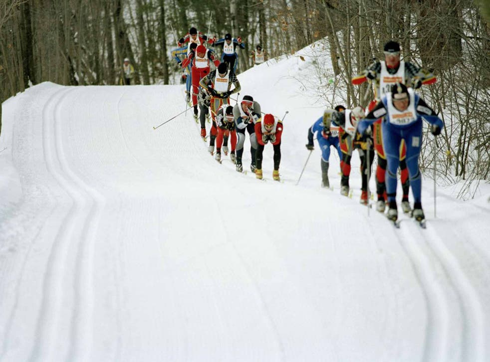 Skiers taking part in the Gatineau Loppet