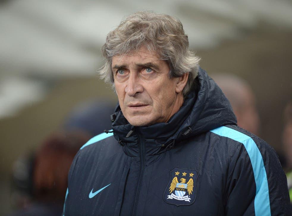 Manchester City manager Manuel Pellegrini