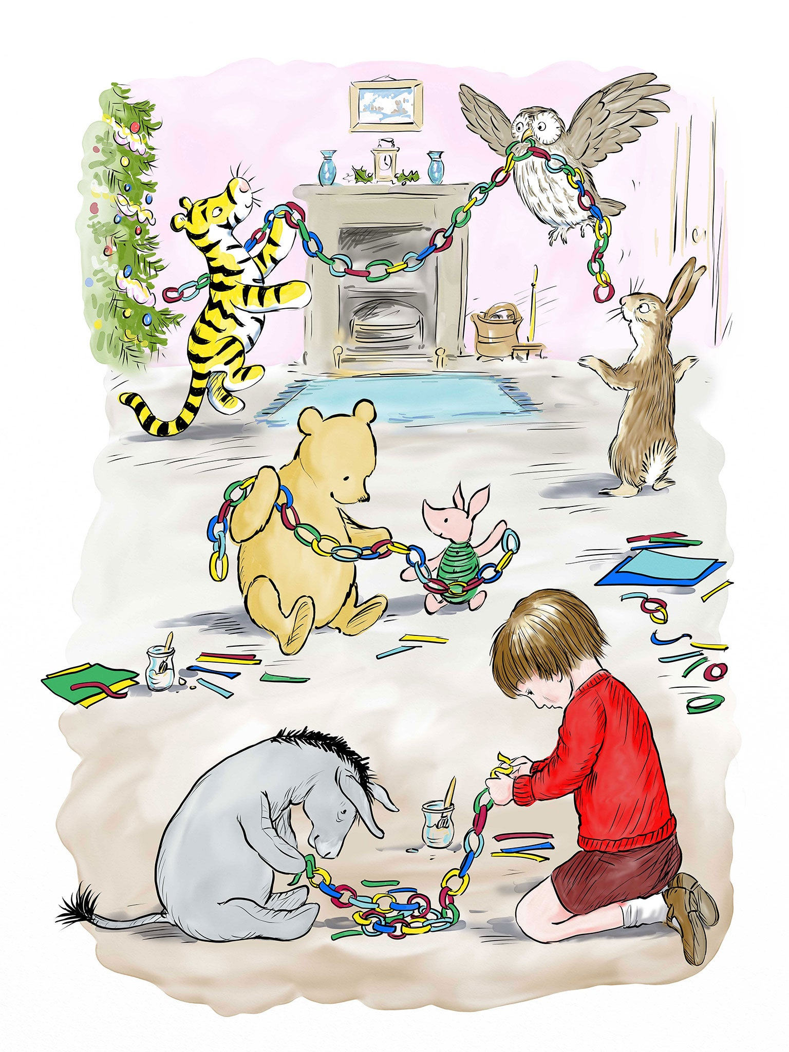 New Winnie the Pooh illustrations celebrate Christmas traditions ...