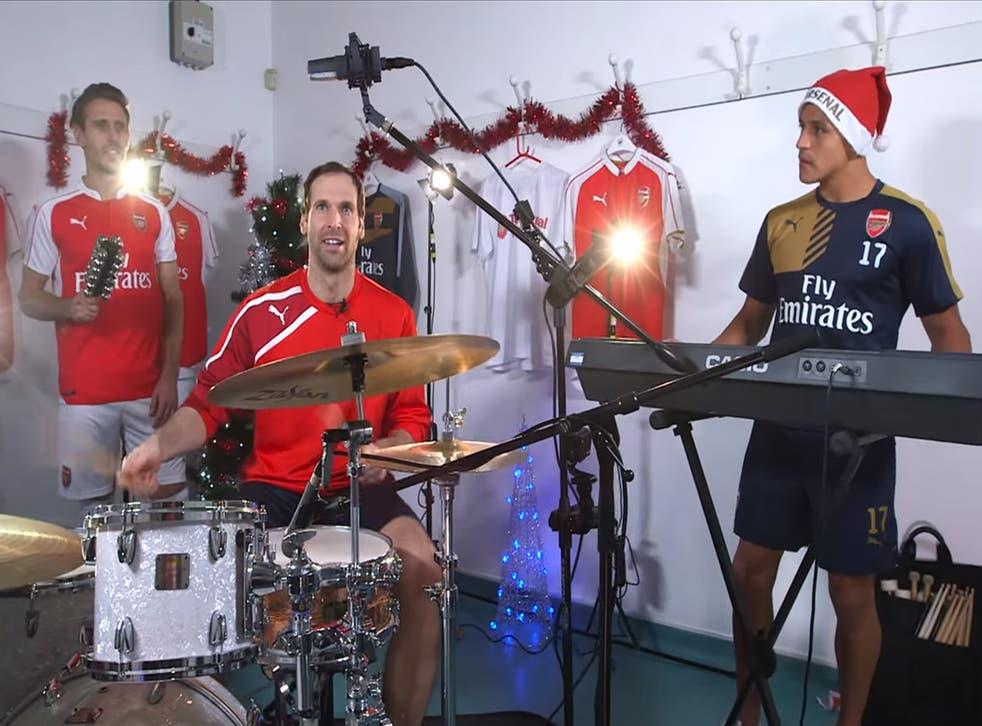 Arsenal's Fab Three of Nacho Monreal, Petr Cech and Alexis Sanchez